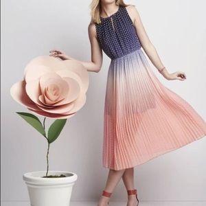 Madison Jules Ombré Polka Dot Midi Dress